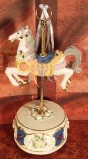 DT Karussell-Pferd blau-beige