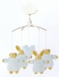 Trouselier Spieluhr Baby-Mobile Hase-Bär blau