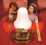 Weihnachts-Glocke Bastel-Set Mutter und Kind / Samt rot