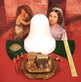 Weihnachts-Glocke Bastel-Set Mutter und Kind  / Samt grün