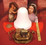 Weihnachts-Glocke Bastel-Set Kind / Samt rot