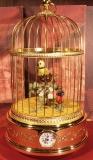 REUGE Singvogelautomat Gold mit Uhr